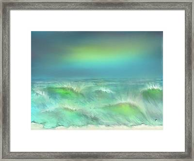 Framed Print featuring the digital art Angry Irma by Darren Cannell