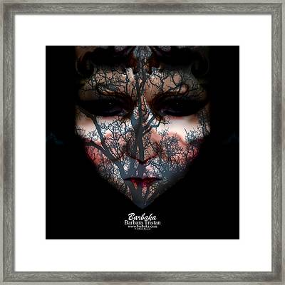 Angry Monster Child #4 Framed Print by Barbara Tristan