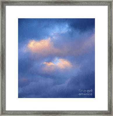 Angry Sky Over The Adirondacks Framed Print by George Robinson