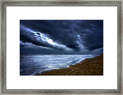 Angry Sky Peaceful Sea Framed Print
