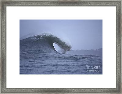 Angry Wave Angry Day Framed Print