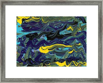 Angry Words 2  Framed Print by Helena M Langley