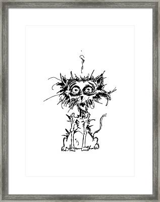 Angst Cat Framed Print