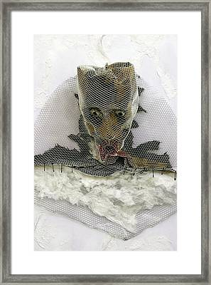 Anguish   Detail   The Mask Series Framed Print