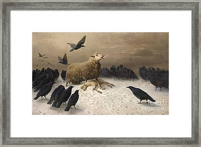 Anguish Framed Print by Celestial Images