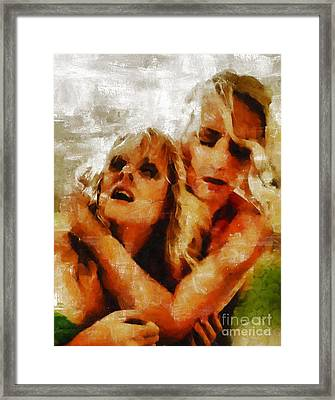 Anguish By Mary Bassett Framed Print by Mary Bassett