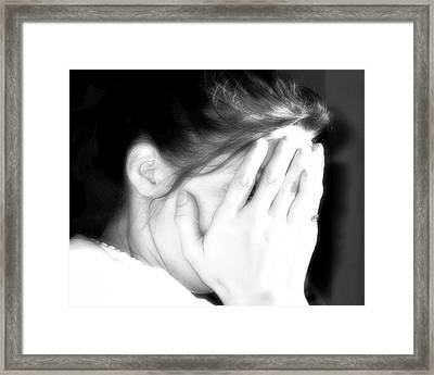 Anguish Framed Print by Randy Steele