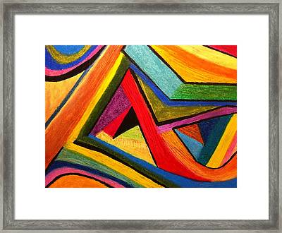 Framed Print featuring the pastel Angular Pull by Polly Castor