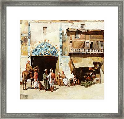 Angurie In Cortile Framed Print