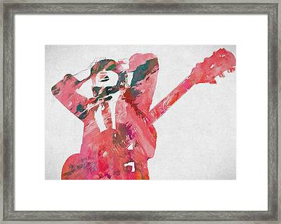 Angus Young Framed Print by Dan Sproul