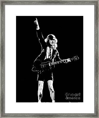 Framed Print featuring the photograph Angus Young Of Ac/dc 1983 by Chris Walter