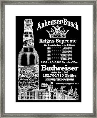 Anheuser-busch Reigns Supreme B K  1906 Framed Print by Daniel Hagerman