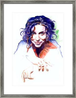 Ani Difranco Framed Print by Ken Meyer jr
