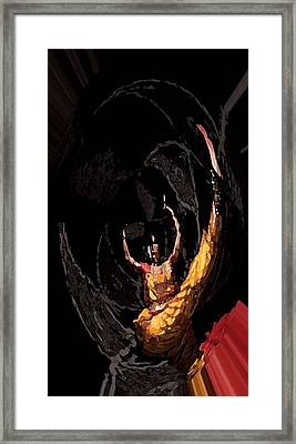 Anictress The Animated Dancer Framed Print by Aim to be Aimless