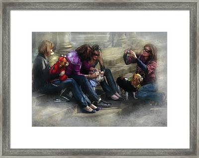 Animal - Dog - How To Humiliate A Dog Framed Print by Mike Savad