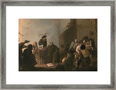 Animal Allegory Framed Print by Cornelis Saftleven