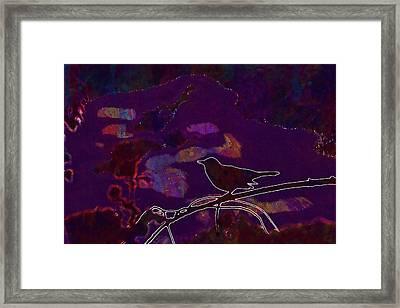 Framed Print featuring the digital art Animal Bird Dark Nature Silhouette  by PixBreak Art