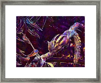 Framed Print featuring the digital art Animal Branches Leaves Mammal  by PixBreak Art