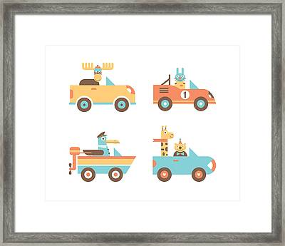 Animal Cars Framed Print by Mitch Frey