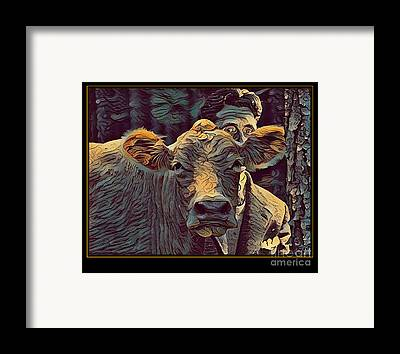 Cowhouse Digital Art Framed Prints