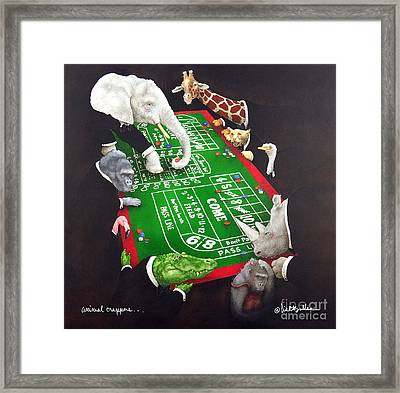 Animal Crappers... Framed Print by Will Bullas