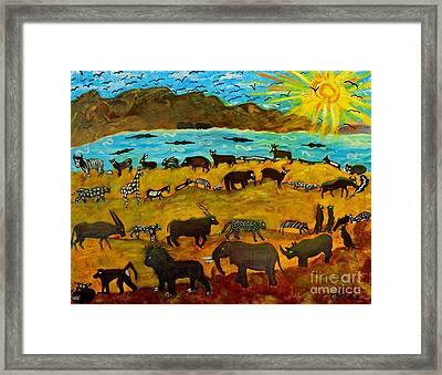 Animal Exodus Framed Print by Caroline Street
