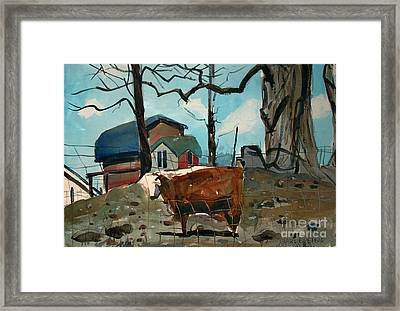 Framed Print featuring the painting Animal Farm by Charlie Spear
