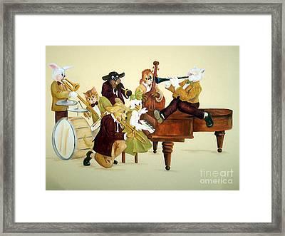 Animal Jazz Band Framed Print
