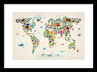 Map Framed Prints