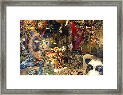 Animal Masks From Venice Framed Print by Mindy Newman