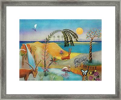 Animal Paradise Framed Print by Sally Appleby