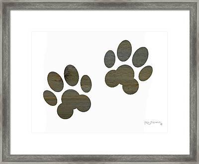Animal Paws Art 2 Framed Print by Ken Figurski
