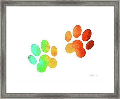 Animal Paws Art Framed Print by Ken Figurski