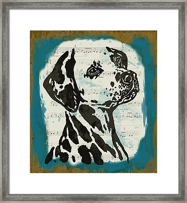 Animal Pop Art Etching Poster - Dog  14 Framed Print by Kim Wang