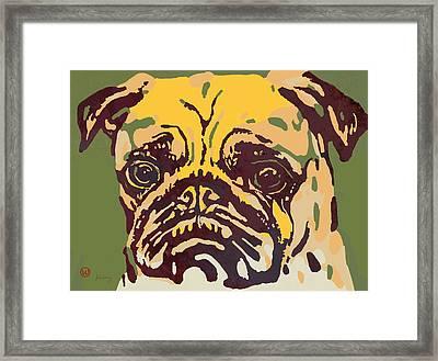 Animal Pop Art Etching Poster - Dog  18 Framed Print by Kim Wang