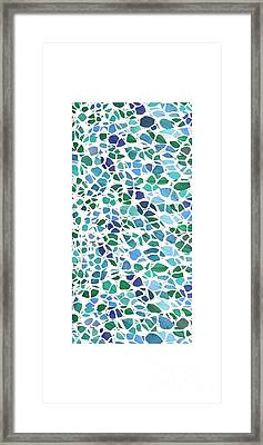 Animal Skin Leaves 2 Phone Case Framed Print by Edward Fielding
