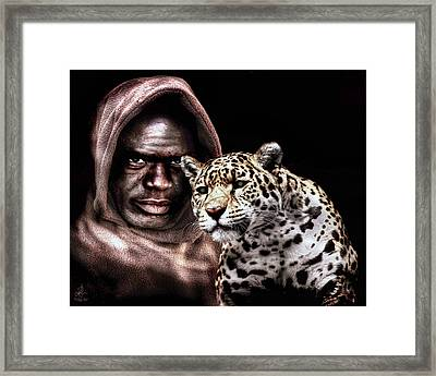 Framed Print featuring the digital art Animal Totem by Pennie  McCracken