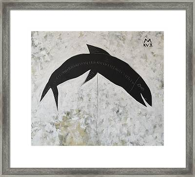 Animalia Black Fish Framed Print by Mark M Mellon
