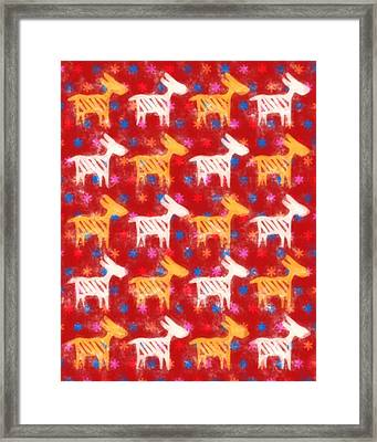 Animals Colorful Framed Print by Tommytechno Sweden