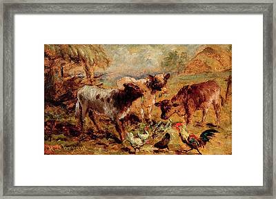 Animals Framed Print by Henry Charles