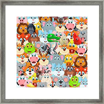 Animals Zoo Framed Print