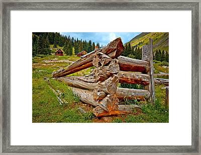 Animas Forks Log Cabin Framed Print