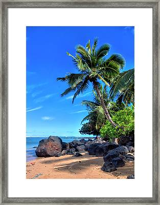 Anini Beach Framed Print