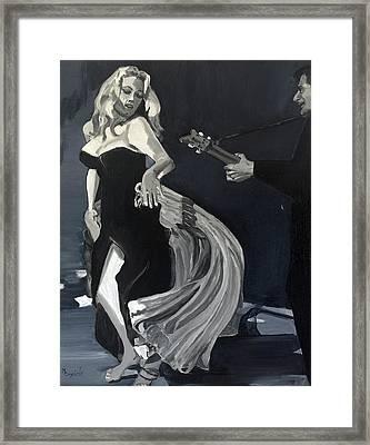 Anita Dancing Barefoot Framed Print
