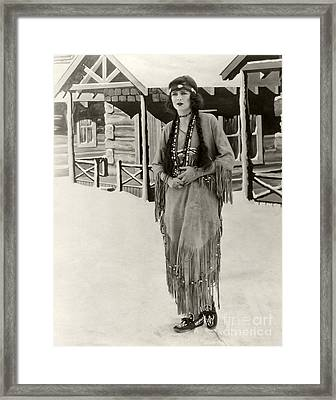 Anita Stewart 1925 Framed Print by Sad Hill - Bizarre Los Angeles Archive