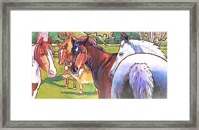 Anjelica Huston's Horses Framed Print by Nadi Spencer