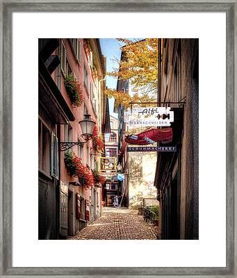 Ankengasse Street Zurich Framed Print by Jim Hill
