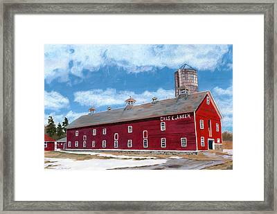 Framed Print featuring the painting Anken's Barn by Lynne Reichhart