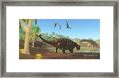 Ankylosaurus Framed Print