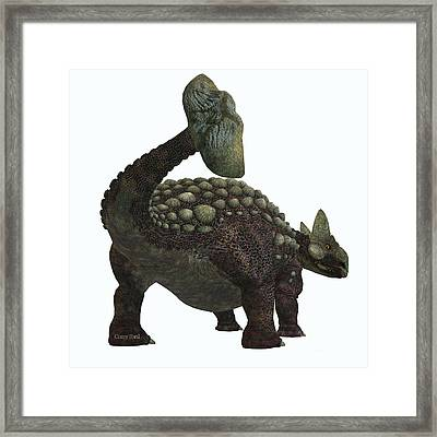 Ankylosaurus Dinosaur Tail Framed Print